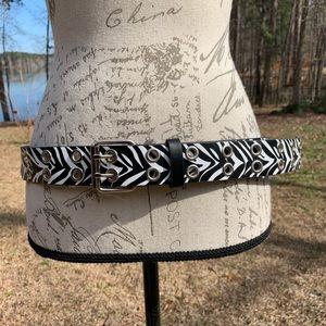 Accessories - Zebra Print Plus Size Faux Leather Belt